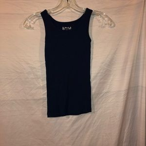 Total girl dark blue tank top girls size lg 10-12